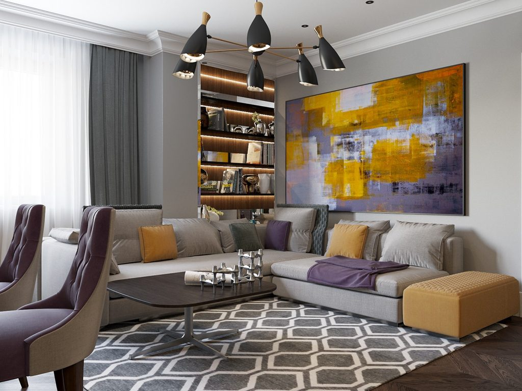 Southover Design | A purple and yellow inspired lounge